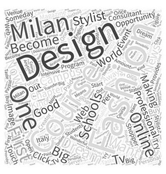 Online fashion design schools Word Cloud Concept vector