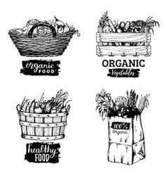 organic vegetables images set farm vector image