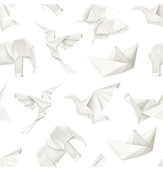 Origami seamless pattern vector image