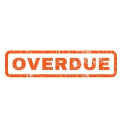 Overdue Rubber Stamp vector image