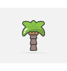 Palm can be used as Logo or Icon vector
