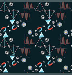 Physics themed seamless pattern back to school vector