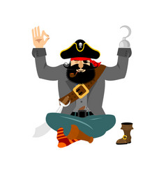 Pirate yoga filibuster yogi buccaneer relaxation vector