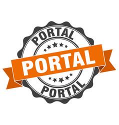 Portal stamp sign seal vector