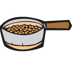 Pot of beans vector