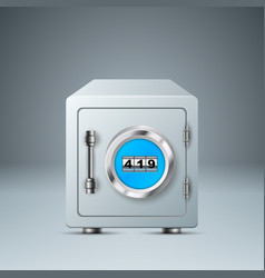 safe lock icon business infographic vector image