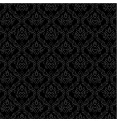 Seamless Damask Wallpaper 3 Gray Color vector