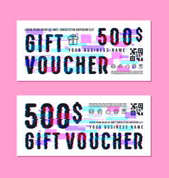 set of gift voucher template vector image
