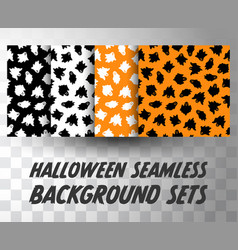 set seamless pattern ghosts vector image