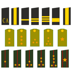 Shoulder straps soldier and officer to soviet army vector