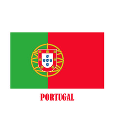 simple flag portugal vector image