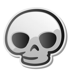 skull emoji face emoticon sticker vector image