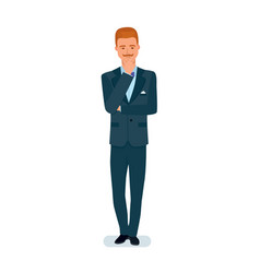 smart graceful man cartoon character vector image