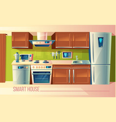 Smart house wireless control of kitchen vector