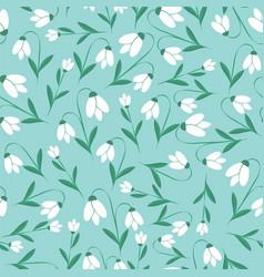 Snowdrops pattern flower seamless botanic texture vector