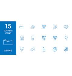 Stone icons vector