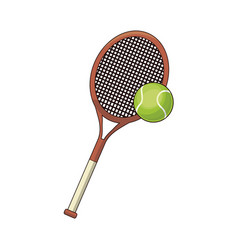 tennis racket and ball sport design vector image