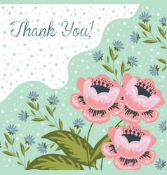 thank you hand drawng brush picture doodle vector image