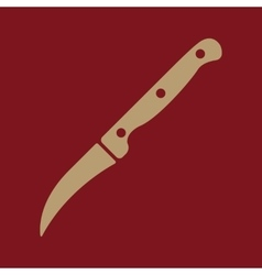 The Knife for cleaning vegetables icon Knife and vector