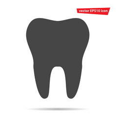 tooth icon isoated modern flat pictogram vector image