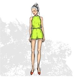Trendy color look vector
