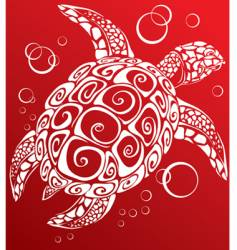 turtle a print vector image