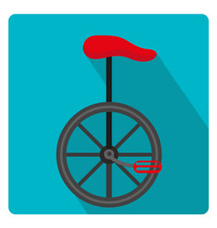 unicycle circus icon for flat style with long vector image