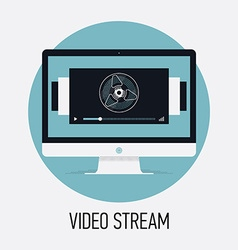 Video Stream Banner vector