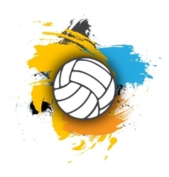 Volleyball logo on background multi vector