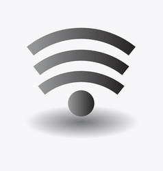 Wi-fi icon in on white background vector