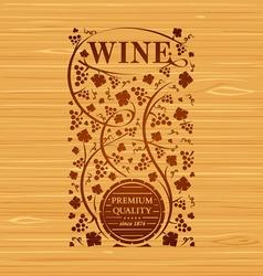wine emblem vector image
