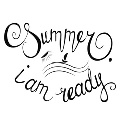 with lettering composition summer time vector image