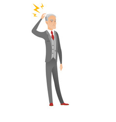 caucasian businessman with lightning over head vector image vector image
