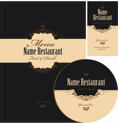 design elements for restaurant vector image vector image