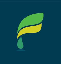 f modern business letter logo design vector image vector image