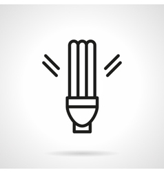 Fluorescent lamp simple line icon vector image vector image