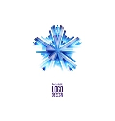 Futuristic Star Icon vector image vector image