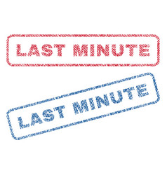 last minute textile stamps vector image vector image