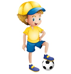 A young football player vector image