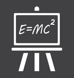 blackboard solid icon chalkboard and school vector image