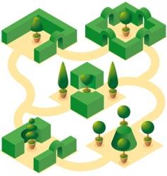 garden designs set vector image vector image