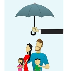 Happy and loving family with children under vector image vector image
