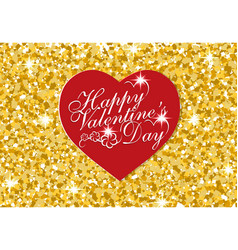 red heart on a background of confetti valentine s vector image