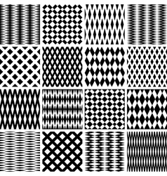 Seamless geometric textures vector