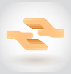 abstract handshake vector image