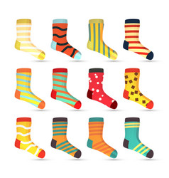 child socks icons big set in flat style vector image