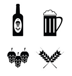 collection of beer icons set vector image