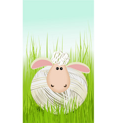 easter funny sheep vector image vector image