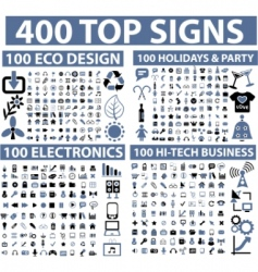 Hundreds of icons vector image vector image