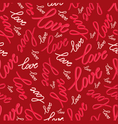 seamless pattern with words love vector image